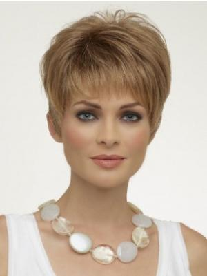 Capless 6 Inches Flexibility Straight Short Wigs For Women
