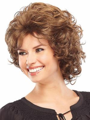 Curly Auburn 8 Inches Layered Sassy Wigs