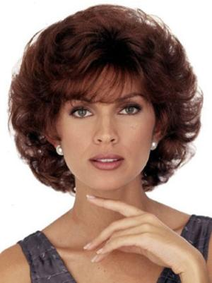 Curly Auburn 8 Inches With Bangs Online Wigs