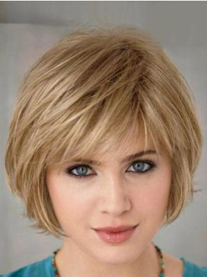 Fashionable 10 Inches Straight Capless Blonde Wig Bob Style