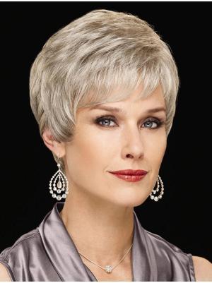 Wavy Capless Blonde Grey Gorgeous Wigs