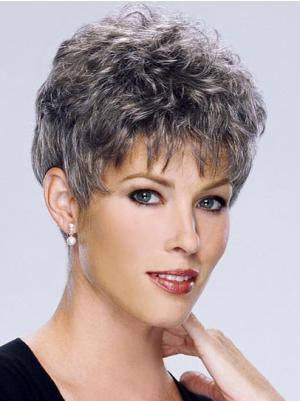 Curly Capless Salt and Pepper Colour Grey Style Wigs