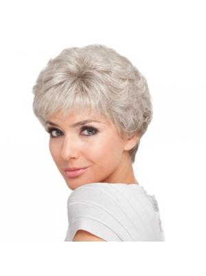 Curly Capless White Grey Good Wigs