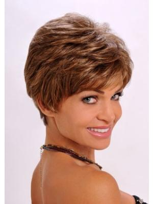 6 Inches Wavy Exquisite Ladies Short Hair Wigs