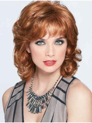 Wavy Auburn 12 Inches With Bangs Best Wigs