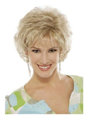 Natural 6 Inches Synthetic Curly Short Classic Ladies Wig