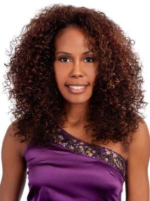 Kinky Auburn 18 Inches Without Bangs Soft Wigs