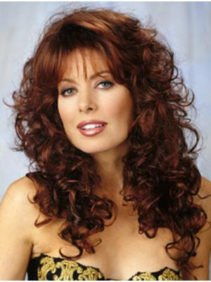 Curly Auburn 20 Inches With Bangs Discount Wigs
