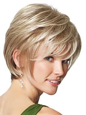 8 Inches Straight Style Pixie Cropped Wigs