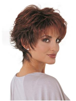 Trendy 10 Inches Synthetic Wavy Short Wigs For Women