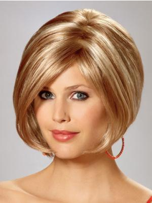 Blonde 10 Inches Chin Length Straight Capless Bob Style Wigs
