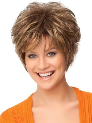 Exquisite 8 Inches Curly Auburn Short Wigs