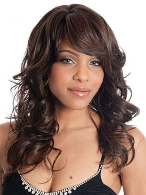 Gorgeous Synthetic Auburn Capless 16 Inches Wavy Long Hair Wig
