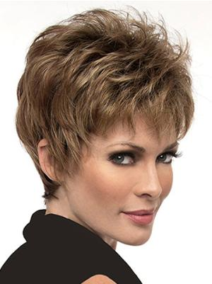 6 Inches Straight Discount Short Cropped Hair Wigs