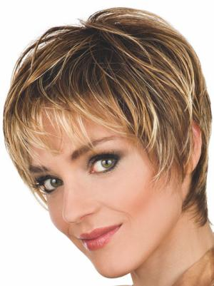 8 Inches Wavy Natural Short Cropped Wig