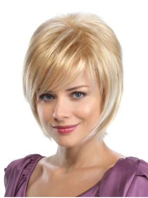 No-fuss 8 Inches Straight Capless Blonde Wig Bob