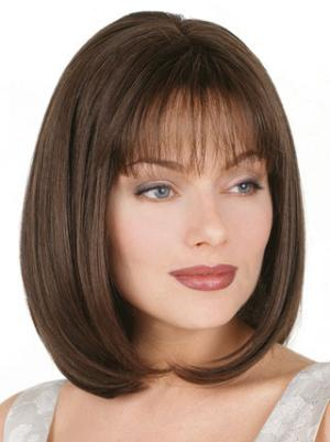 Hairstyles 10 Inches Straight Capless Brown Bob Wigs For Sale