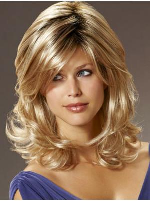 Discount With Bangs Blonde 16 Inches Wigs