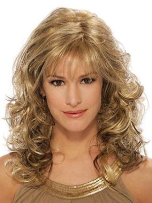 Suitable With Bangs Blonde 14 Inches Wigs