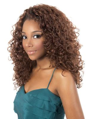 Kinky Auburn 18 Inches Without Bangs Durable Wigs