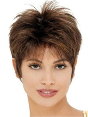 Straight 6 Inches Gorgeous Brown Short Ladies Wigs