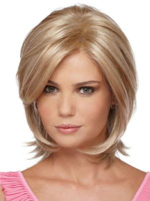 Natural 10 Inches Straight Capless Blonde Wigs Bobs