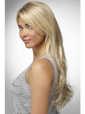 Fashion With Bangs Blonde 26 Inches Wigs