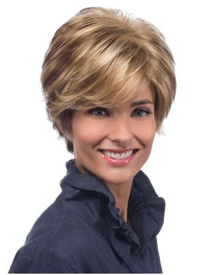 Popular With Bangs Blonde 8 Inches Wigs