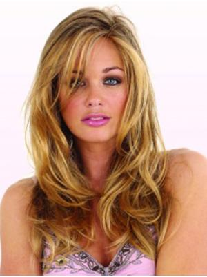 Natural With Bangs Blonde 22 Inches Wigs