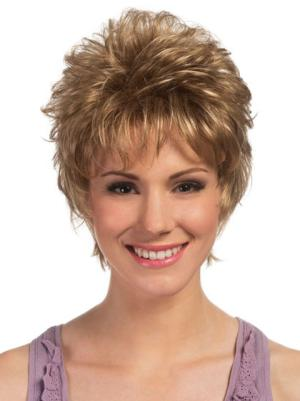 Curly 6 Inches Exquisite Blonde Short Haircuts