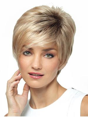Amazing With Bangs Blonde 8 Inches Wigs