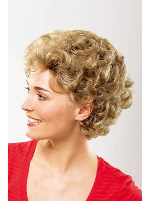 Flexibility 8 Inches Synthetic Curly Short Classic Womens Wigs