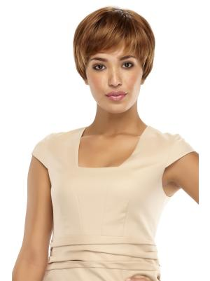 Amazing Synthetic Brown Capless 4 Inches Straight Boycut Wigs