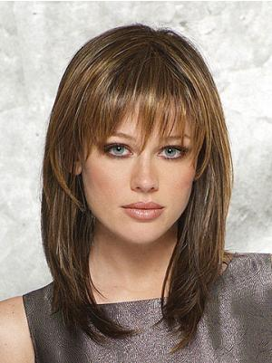 Straight Brown 14 Inches With Bangs Fabulous Wigs