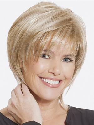Beautiful With Bangs Blonde 8 Inches Wigs