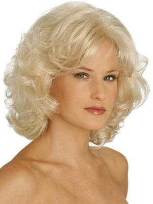 Sassy 12 Inches Synthetic Curly Chin Length Classic Lady Wig