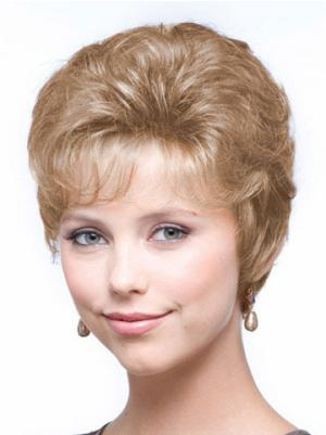 Top 6 Inches Synthetic Wavy Cropped Wig For Women Classic Style