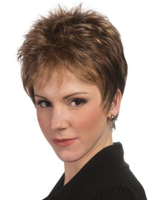 4 Inches Straight Affordable Short Cropped Wig