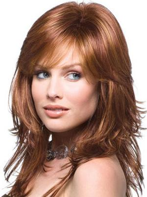 Cheapest Synthetic Auburn Capless 14 Inches Wavy Wigs Long