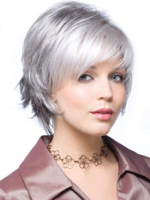 Straight Capless Salt and Pepper Colour Grey Amazing Wigs