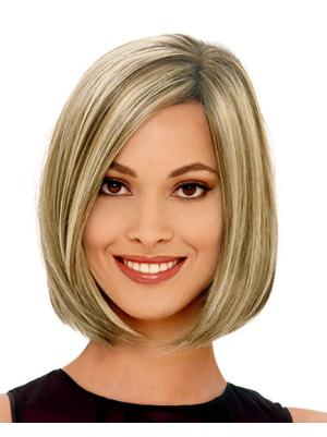 Perfect 12 Inches Straight Capless Blonde Wig Bob