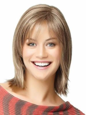 Top 12 Inches Straight Capless Blonde Bob Wigs For Sale