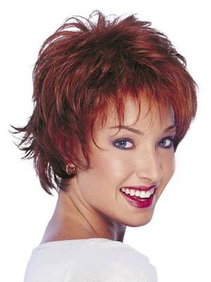 Capless 10 Inches Beautiful Wavy Short Wigs