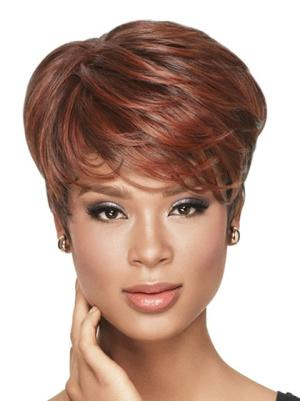 Wavy 6 Inches Natural Red Short Wig