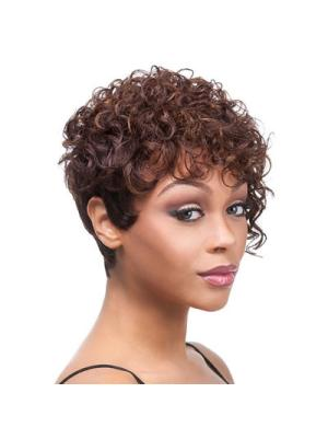Gorgeous 4 Inches Curly Auburn Short Wigs
