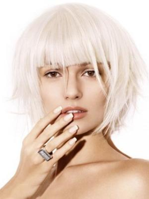 Cheapest 10 Inches Straight Capless White Wigs Bob
