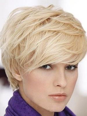 Straight 6 Inches Affordable Blonde Short Wig