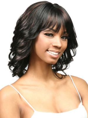 14 Inches Shoulder Length Curly Synthetic Durable Black Women Hairstyles