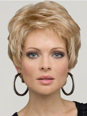 Wavy 6 Inches Online Blonde Short Hair