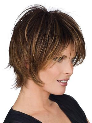Short Straight Ideal 8 Inches Wigs